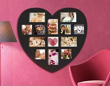 Woltu Bilderrahmen Foto Galerie Bilder Rahmen Herz Hochzeit Collage