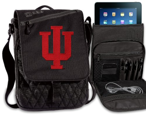 Indiana University Tablet Bag IU Ipad Shoulder Bag NCAA]()