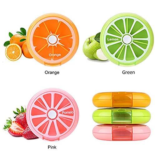 Amazon.com: Pastillero giratorio portátil con forma de fruta ...