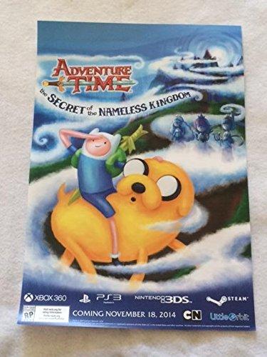 ADVENTURE TIME - THE SECRET OF THE NAMELESS KINGDOM - 13x19 Original Promo Poster SDCC 2014