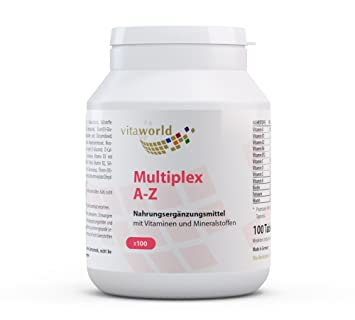 Vita World Multivitamin A-Z 100 Tablets Made in Germany