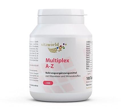 Complejo Multivitamínico A-Z 100 Comprimidos Vita World Farmacia Alemania Vitaminas y Minerales