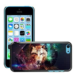 Hot Style Cell Phone PC Hard Case Cover // M00047302 magic wild art wolf wild dogs animals // Apple iPhone 5C