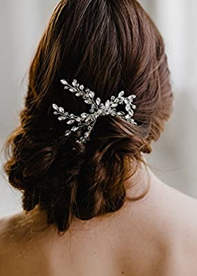 Missgrace Women's Wedding Hair Combs - Bridal Hair Accessories Head Piece Vintage Wedding Crystal Hair Combs