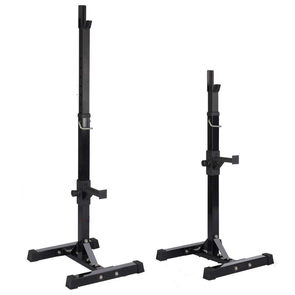 Gym Squat Rack Portable Adjustable Bar Power Squat Rack Home Fitness Weight Workout Compact Mobile Squating & E Book by Easy2Find.