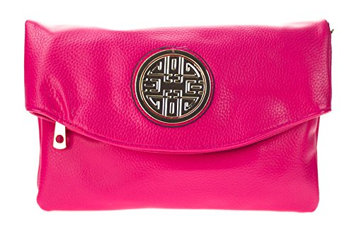 Canal Collection Multi Purpose Soft Foldable PVC Cross Body Clutch with Emblem (Hot (Hot Bodies Clutch)