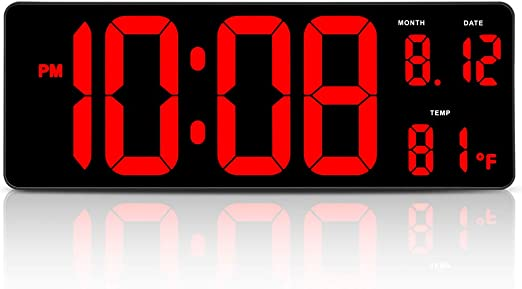 Extra Large LED Display Clock Sign Wall Shelf Desk Office Shop Oversized Digital