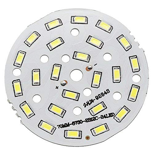 ZealMax 300mA 12W 24 LED 5730 SMD Módulo de chip LED Tablero de aluminio Blanco puro Súper brillante 70mm Dia