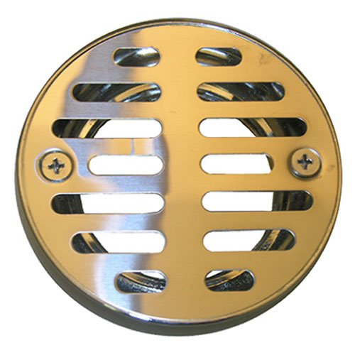LASCO 03-1243 3-1/4-Inch with 2 Screws Shower Drain Grate, Chrome Plated chic