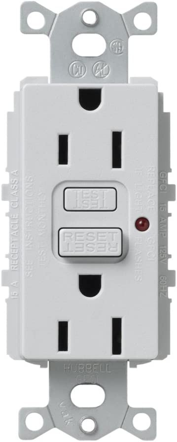 Lutron SCR-20-GFTR-MN Satin Colors 20-Amp Tamper Resistant GFCI Receptacle Midnight