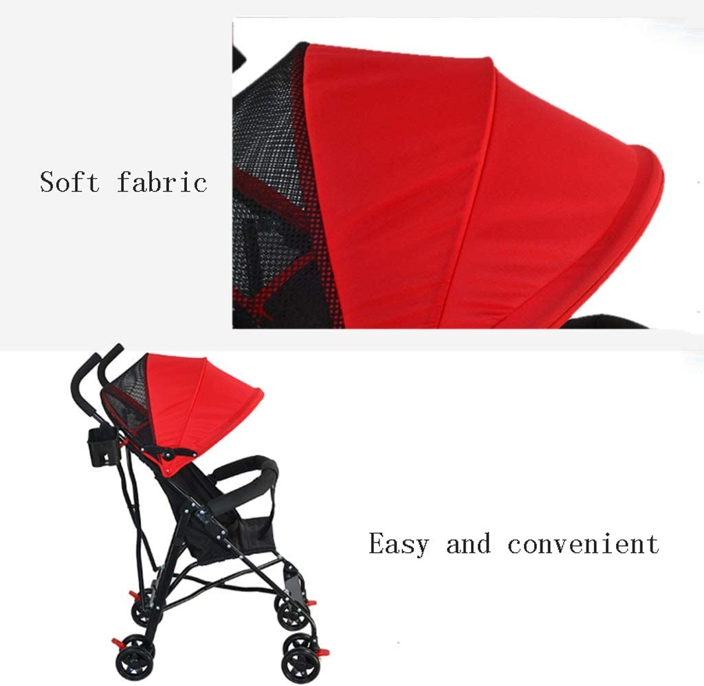 parapluie b/éb/é respirant Poussette d/ét/é /à quatre roues pour 1-5 ans Color : A poussette pliante l/ég/ère