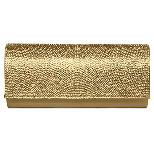 CASPAR Fashion - Cartera de mano para mujer - dorado
