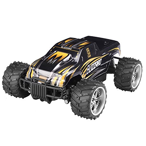 STOTOY Electric RC Car - Offroad Remote Control Cars - RTR RC Buggy RC Monster Truck 1:16 4WD 2.4Ghz High Speed with 1 Rechargeable Battery (Yellow)