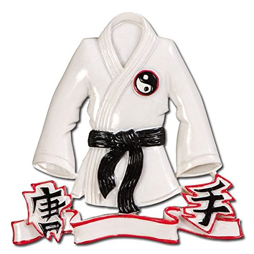 (Grantwood Technology Personalized Christmas Ornaments Sports-Karate Robe/Personalized by Santa/UFC Ornament/Judo Ornament/Karate)