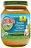 organic baby food 3 - Earth's Best Organic Stage 3 Baby Food, Tender Chicken & Stars Chunky Blend Dinner, Non GMO Ingredients, 6 Oz Jars (Pack of 12)