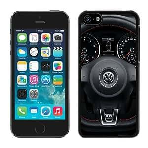Personalized Volkswagen logo 1 Unique Custom Black Case For iPhone 5C Case