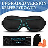 AMAZKER 3D Sleep Mask Eye Masks for Sleeping with Ear Plug and Carry Pouch ...