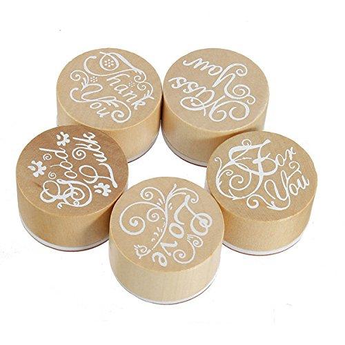 Bazaar Wooden Rubber Stamps Round Handwriting Wishes DIY Tool Big Bazaar