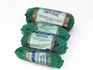 4mx100m Anti-bird netting. Green plastic diamond mesh. Crop Protection, fruit cages, allotments, vegetables. Protect plants from birds
