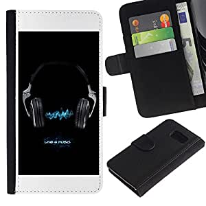 All Phone Most Case / Oferta Especial Cáscara Funda de cuero Monedero Cubierta de proteccion Caso / Wallet Case for Sony Xperia Z3 Compact // Music Live 4 Music