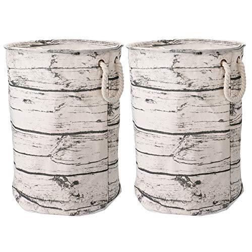- Yoweenton XXL Fabric Laundry Basket Storage Bins Waterproof Coating Canvas Cotton 19 3/4