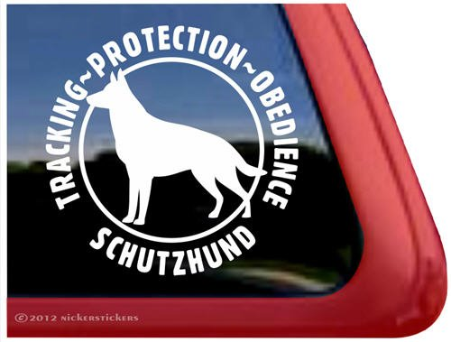 Tracking Protection Obedience Schutzhund~ German Shepherd Vinyl Window Decal - Detailed Tracking Usps