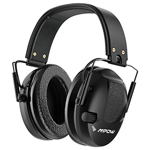Mpow Shooting Ear Protection, Professional Electronic Earmuffs with Listening Mode, 22dB NRR Ear muffs with Adjustable Headband, Noise Cancelling headphones for Shooting, Hunting, Construction, Mowing