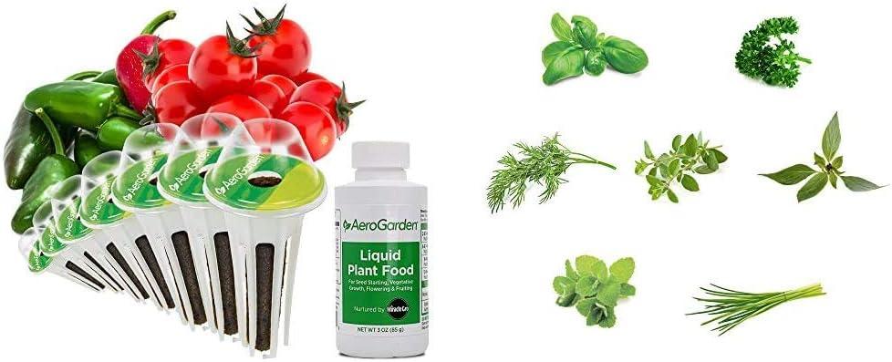 AeroGarden Salsa Garden Seed Pod Kit, 7 & Gourmet Herb Seed Pod Kit (7 pod)