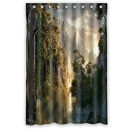 LIBIN Scottshop Custom Lord Of The Rings Landscape Shower Curtain Waterproof Polyester Fabric Bathroom Curtains