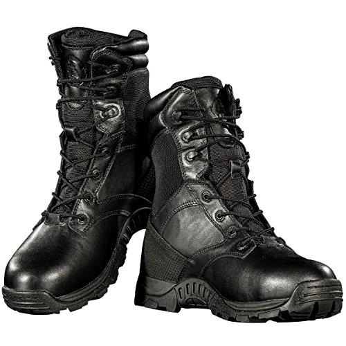 Stivali Impermeabili Da Uomo Scarpe Da Punta Composite Resistenti Alla Penetrazione Stivali Da Combattimento Tattici In Acciaio (nero 8)