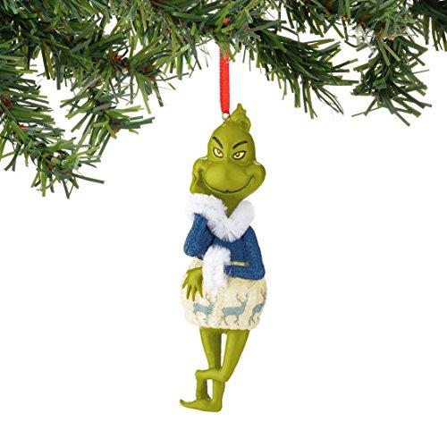 Department 56 Classics Grinch Blue Deer Sweater Ornaments