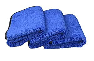 Microfiber Car Cleaning Cloths 400gsm Tow Different Sides for Cleaning Polishing 3-pack