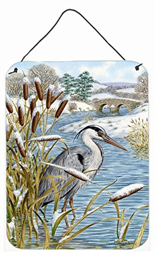 - Caroline's Treasures Blue Heron Wall or Door Hanging Prints ASA2057DS1216, 16HX12W, Multicolor