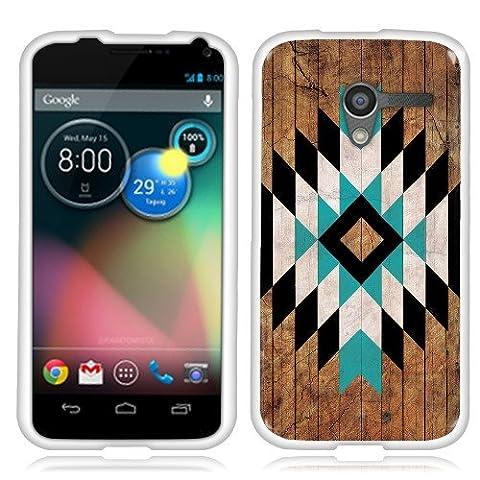 Motorola Moto X Phone XT1058 1st Gen 2013 Case, Fincibo (TM) TPU Silicone Protector Cover Soft Gel Skin, Geometric Minimalist (Moto X 1st Gen Phone Covers)