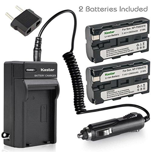 Kastar Battery (2-Pack) + Charger for Sony NP-F570 NP-F550 NP-F530 NP-F330 & CCD-RV100 CCD-SC5 CCD-SC9 CCD-TR1 CCD-TR215 CCD-TR940 Camcorder, CN-126 CN-160 CN-216 CN-304 YN 300 VL600 LED Video Light