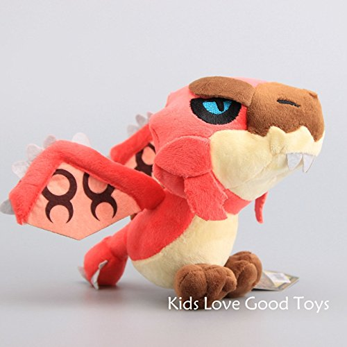 Sound 8' Plush (Good Monster Hunter Red Rioreus Rathalos Stuffed Animal Plush Toy Soft Doll 8'' Teddy)