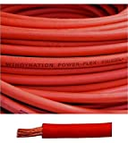 4 Gauge 4 AWG 50 Feet Red Welding Battery Pure Copper Flexible Cable Wire -- Car, Inverter, RV, Solar by WindyNation