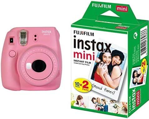 Fujifilm Instax Mini 9 - Cámara instantanea, Rosa (Suave) + Pack de 20 películas: Amazon.es: Electrónica