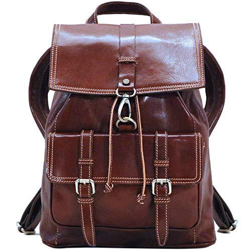 (Trastevere Leather Backpack Knapsack Satchel Bag)