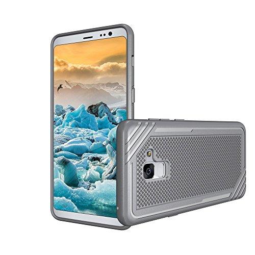 Caja texturizada a prueba de golpes suave TPU para Samsung Galaxy A8 + (2018) ( Color : Gray ) Gray