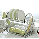 best seller today 2-Tier Dish Rack and DrainBoard, 20