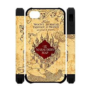 Collectibles Harry Potter Hogwarts Apple Iphone 4S/4 Case Cover Dual Protective Polymer Cases Deathly hallows map