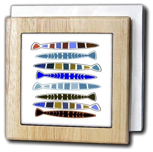 フローレン – 装飾III – 印刷の抽象グラフカラフルな魚 – タイルナプキンホルダー 6 inch tile napkin holder nh_221594_1 6 inch tile napkin holder  B016PFF1OI
