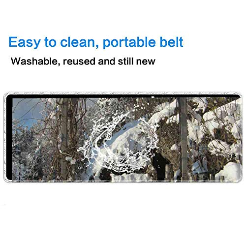 Mouse Pad Rectangle Mouse Pad Archway Winter Input Garden Fence Garden Fence #240412 Series 260mm210mm3mm