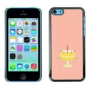TECHCASE**Cubierta de la caja de protección la piel dura para el ** Apple iPhone 5C ** Birthday Cake Sugar Sweets Candy Art