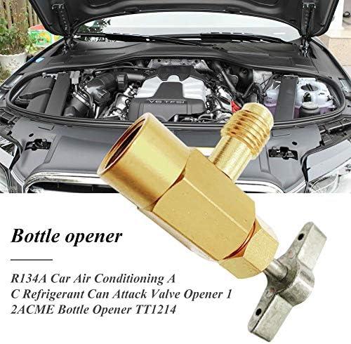 fancyU R134A Automotive Klimaanlage Kältemittel Flaschenöffner Dedicated 1 / 2ACME TT1214 134A Flaschenöffner