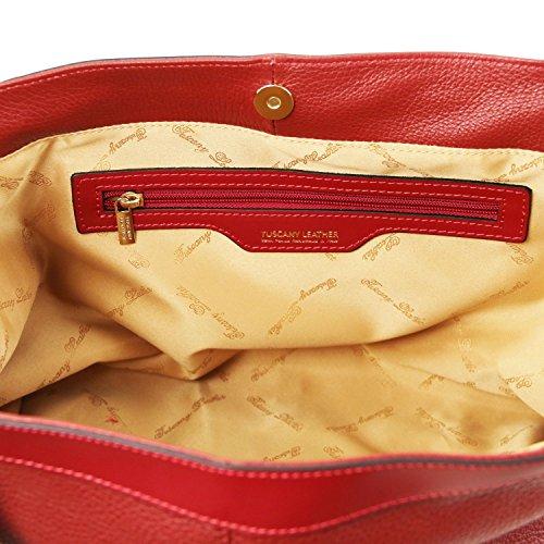 Tuscany Leather Ambrosia - Borsa in pelle morbida con tracolla - TL141516 (Rosso Lipstick) Rosso Lipstick