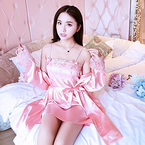 Cinghia Wanyne Rosso Il Sexy Rosa Pizzo Anguria Abiti Delle Set colore 2pcs Vestaglie Xl Cinghia Signore Vestito Di Con Con Il spogliatorio Vestito Estate Dimensioni AfWrPf