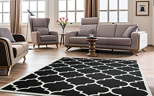 Ottomanson Paterson Collection Contemporary Moroccan Trellis Design Lattice Area Rug, 7'10