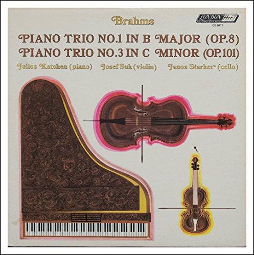 Brahms: Piano Trio No. 1 In B Major (Op. 8) / Piano Trio No. 3 In C Minor (Op. 101) - Julius Katchen, Piano; Josef Suk, Violin; Janos Starker, Cello